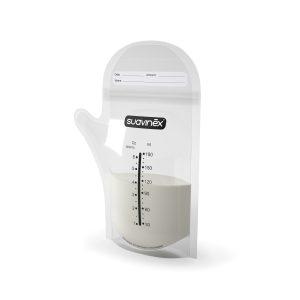 Bolsas p/leche materna con pico 180ml - Suavinex