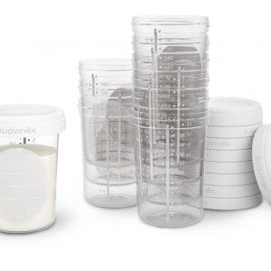 Vasos de almacenaje apilables 200ml - Suavinex