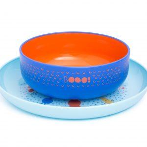 Set Bowl + Plato Suavinex +6m - Azul
