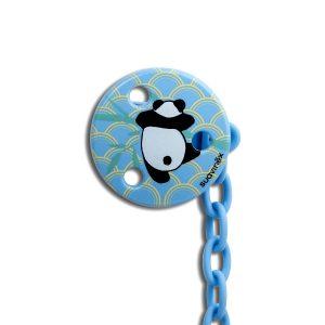 Clip Redondo Cadenita Suavinex - Panda Celeste